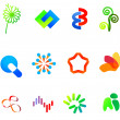 12 colorful vector symbols: (set 23) - Stock Vector