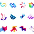 12 colorful vector symbols: (set 27) - Stock Vector