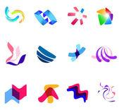 12 colorful vector symbols: (set 27) — Stock Vector