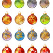 Stock Vector: Different christmas glass balls