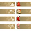 Set of different Christmas banners — Stock Vector #6926015