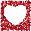 Frame made of rose petals - Stock Vector