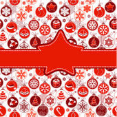 Creeting card with Christmas balls — Stock Vector