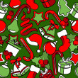 Seamless pattern with Christmas decoration - Vettoriali Stock 