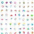 72 colorful vector icons: (set 1) - Stock Vector