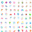 Stock Vector: 72 colorful vector icons: (set 1)