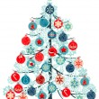 Stock Vector: Christmas tree made of balls