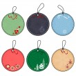 Set of Christmas Tags — Image vectorielle