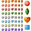 Collection of different jewels - Imagen vectorial