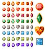 Colección de diversas joyas — Vector de stock