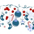 Border with traditional Christmas symbols - Imagen vectorial