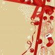 Royalty-Free Stock Vector Image: Background with traditional Christmas symbols