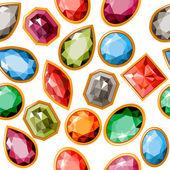 Patrones sin fisuras con joyas — Vector de stock