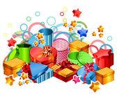Modern gift boxes — Stock Vector