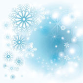 Winter background with snowflakes — Stock Vector