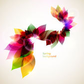 Floral abstract background. — Stockvector