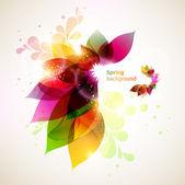 Floral abstracte achtergrond. — Stockvector