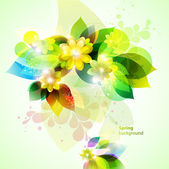 Floral spring background. — Stock Vector