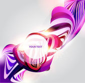 Abstract purple form. — Stock Vector
