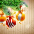Christmas yellow balls. - 