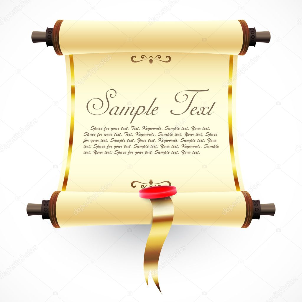 Old scroll. Vector illustration   Stock Vector #7365028