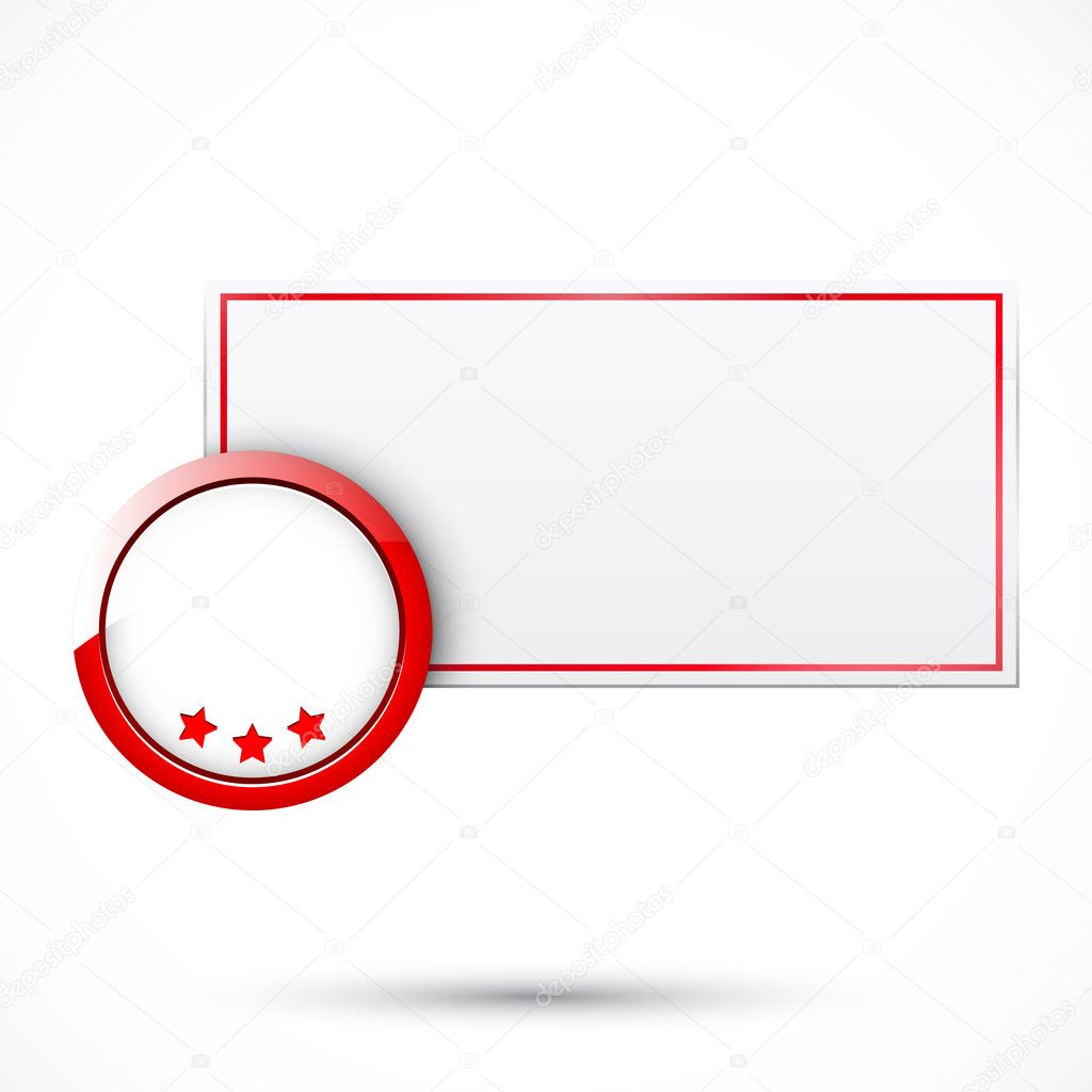 Sale tag with red element   Stock Vector #7365086