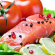 Red fish and fresh — Stock Photo #7615894