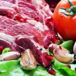Meat and fresh vegetables — Stock Photo