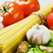 Spaghetti and fresh vegetables — Stock Photo #7616022