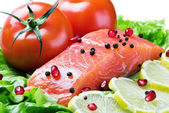 Red fish and fresh — Stock Photo
