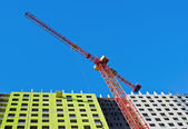 Construction of high-rise house — Stock Photo