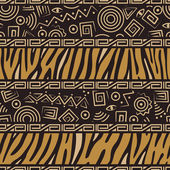 African style seamless pattern — Vettoriale Stock