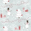 Christmas seamless pattern — Stock Vector #7232732