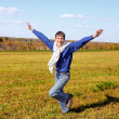 Happy teenager running — Stock Photo