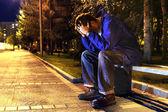 Adolescente triste — Foto Stock