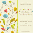 Stock Photo: Vintage vector invitation card with floral pattern