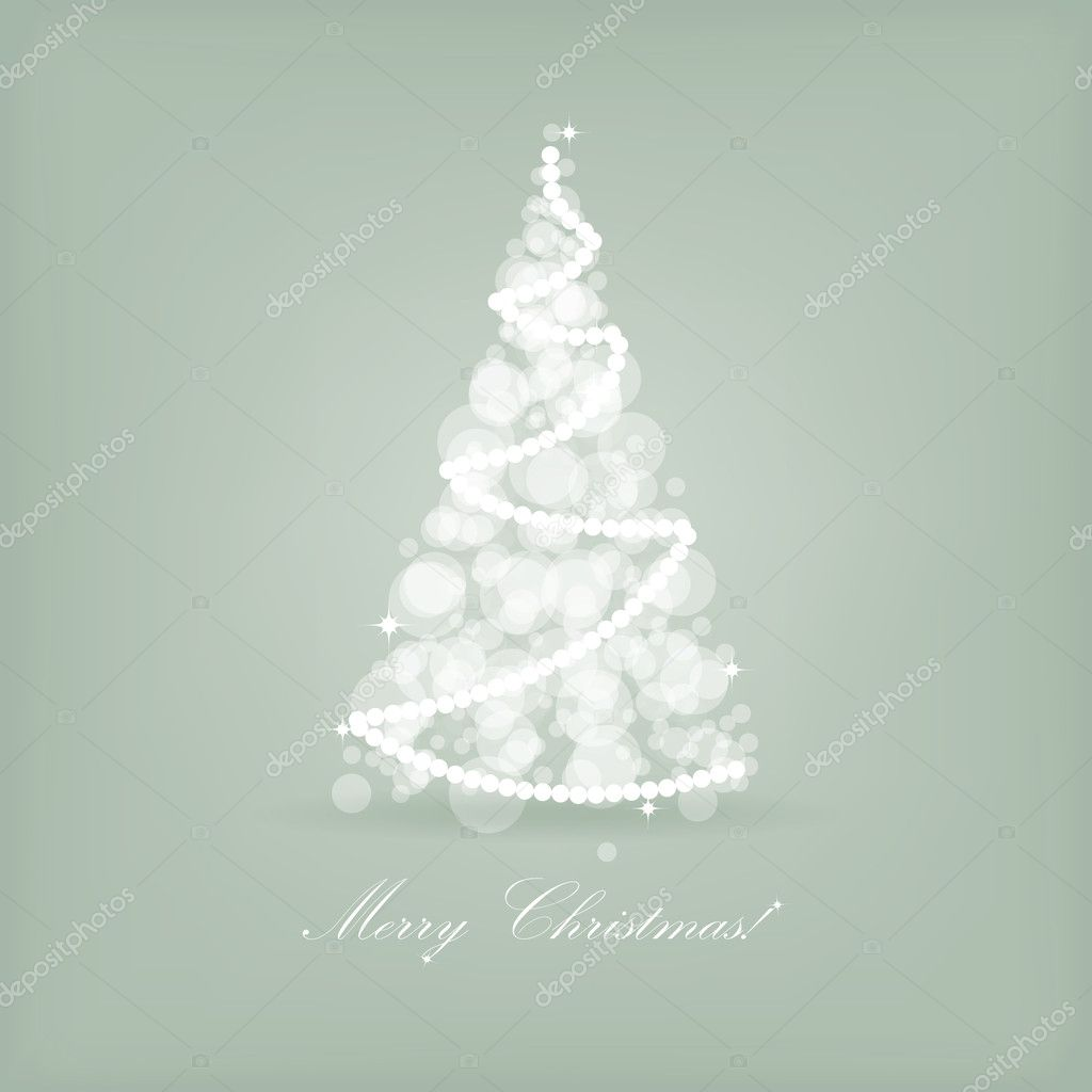 Beautiful holiday card with retro style christmas tree.  — Stock Photo #7174924