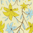 Seamless pattern with abstract lily flowers for your design — Stock Photo