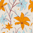Seamless pattern with abstract lily flowers for your design — Stock Photo #7333057