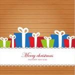 Christmas invitation card on wood background — Stock Photo