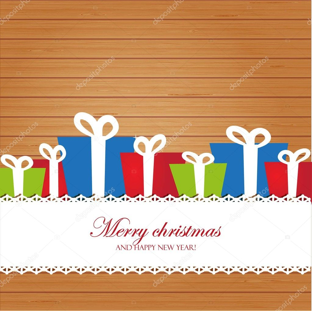 christmas invitation card on wood background stock photo christmas invitation card on wood background stock image