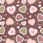 シームレスな心の背景ベクトル バレンタイン カード — ストック写真