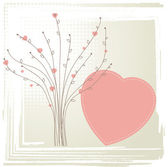Tree with hearts. Vintage valentine concept — Stock Photo