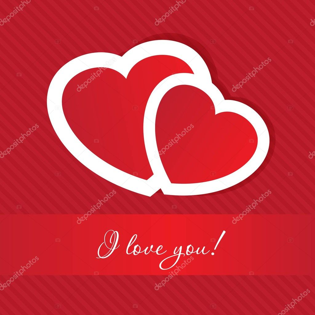 Vector valentines card on hearts background  — Stock Photo #7767393