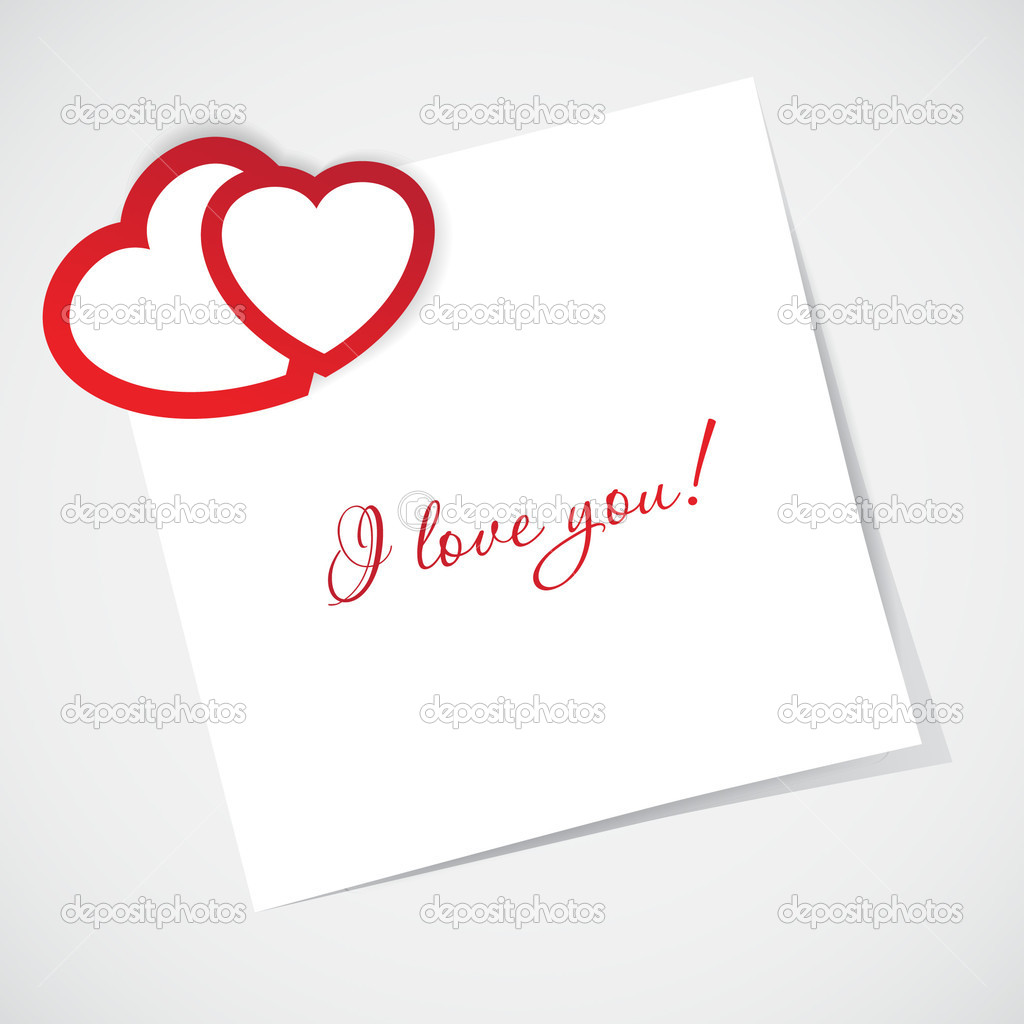 Vector valentines card on hearts background  — Stock Photo #7767411