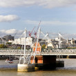 Hungerford Bridge and Golden Jubilee Bridges — Stock Photo
