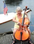 Koncert na jezeře. — Stock fotografie