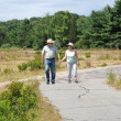 Stock Photo: Couple on walking trail.