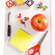 Pencils and apple - concept school — Stock Photo