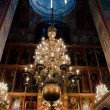 Interior of russian orthodox church at Moscow Kremlin - Stock Photo